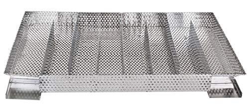 Beeketal 'Smoke Duo-XXL' Sparbrand Kaltraucherzeuger mit 8 Kammern (L/B/H) ca. 345 x 205 x 45 mm, Raucherzeuger Generator zum kalträuchern und smoken im Räucherofen, Räucherschrank oder Smoker
