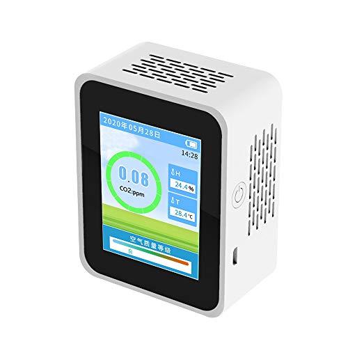 CO2 Messgerät KKmoon Formaldehyd PM2.5 CO2 Detektor für den Innenbereich Haushaltsluftdetektor Intelligenter Luftqualitätsanalysator Haushaltsluftverschmutzungsmonitor