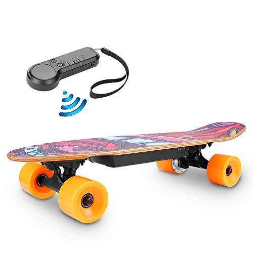 Casulo Skateboard Électrique à Télécommande sans Fil, Moteur 350W 3 Modes de Vitesses Réglables...