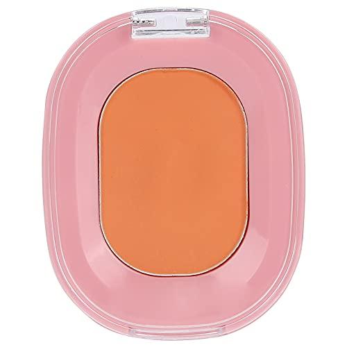 Rubor facial, herramienta de maquillaje facial brillante/mate para diversas pieles, sin polvo y resistente a la caída(naranja)
