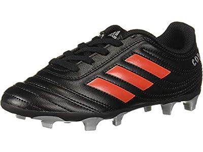 adidas Unisex-Kid's Copa 19.4 Firm Ground Soccer Shoe, Black/hi-res red/Silver Metallic, 6 M US Big Kid