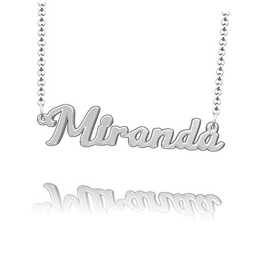 LoEnMe Jewelry Knowles Name Necklace Sterling Silver Plated Custom Made of Last Name Personalized Gift for Family