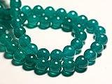 World Wide Gems Cuentas de piedras preciosas 10 piezas - Bolas de jade 8 mm azul verde pavo real código-HIGH-69572