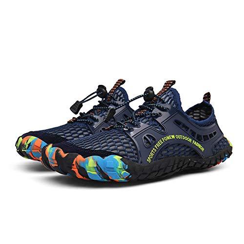 Aerlan Buty do pływania, buty do chodzenia boso, do sportów wodnych, antypoślizgowe, szybkoschnące buty do nurkowania, Blue_46