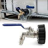 RENNICOCO Adaptador de Grifo de Tanque IBC Conector de Rosca de 3/4 '' Válvula de Repuesto Piezas de Ajuste Válvula de Tanque de latón S60x6 1000L Contenedor de Agua de Lluvia