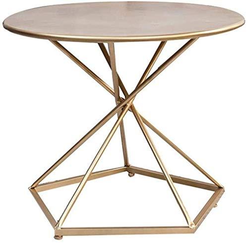 N/Z Table Basse Life Equipment Endroit idéal pour Ranger Les nécessités Quotidiennes Table Basse rectangulaire de Salon de Base Table Basse Vintage (Couleur: Or Taille: 50x50cm)