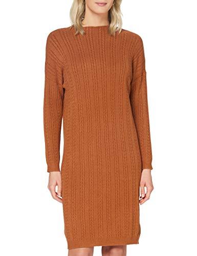 APART Fashion Apart damska sukienka z dzianiny, z dodatkiem kaszmiru, nacięte rękawy, mały rozcięty, piękna sukienka basic