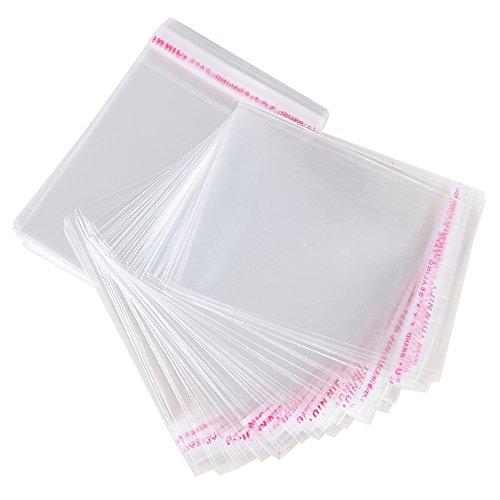 AONER 200pcs(10*15cm) Bolsas de Celofán Transparente Plastico Pequeñas OPP con Cierre Autocierre Banda Autodhesiva para Caramelo Bombones Regalos de Boda (10cm*15cm)
