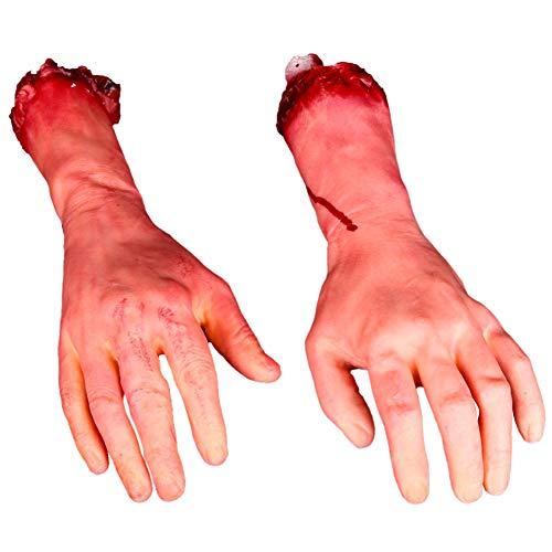 Halloween Blutige Gefälschte Arme Hände, Horrorfilm Requisiten, echte Horror, Halloween Zombie Vampir Party Dekoration,