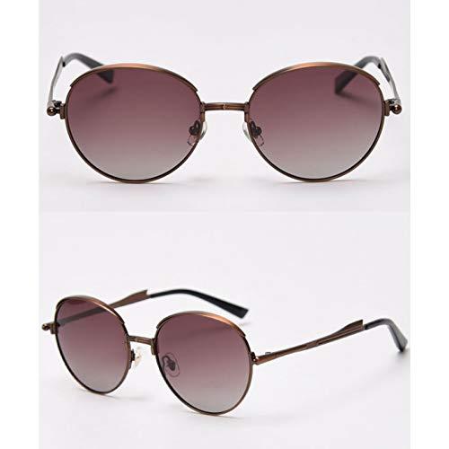 SXRAI Gafas de Sol polarizadas Uv400 para Hombre, Gafas de Sol Redondas para Hombre y Mujer, Marco de Metal,C6