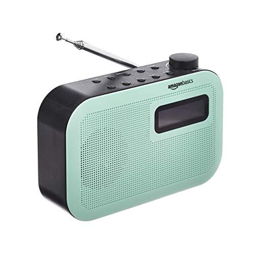 Amazon Basics - Radio portatile DAB/FM con schermo LCD e Bluetooth - Verde