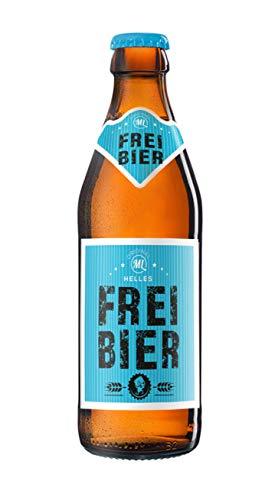 Sixpack 6 x Freibier Bier in der Männerhandtasche Original ML Helles in 0,33 Liter Flaschen (insgesamt 6) Alc.5,2% vol.