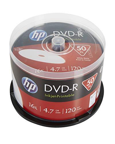 HP DVD-R IJ Print 16X 50PK Caja HP 4,7GB
