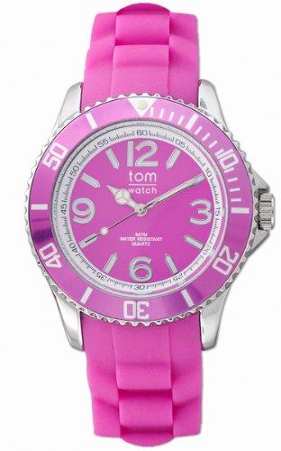tom watch Damen Analog Quarz Uhr mit Gummi Armband WA00011