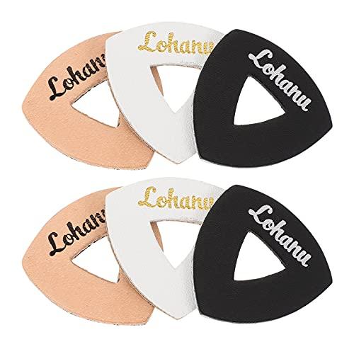 Holibanna 6 Piezas de Púas de Guitarra Ukelele Selección de Bajo de Piel de Oveja Piezas de Guitarra Plectrum para Ukelele Instrumento Musical Guitarra Bajo (Color Aleatorio)
