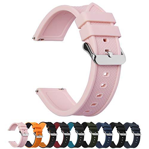 Fullmosa 10 Colori per Cinturino 18mm 20mm 22mm 24mm in Silicone a sgancio...
