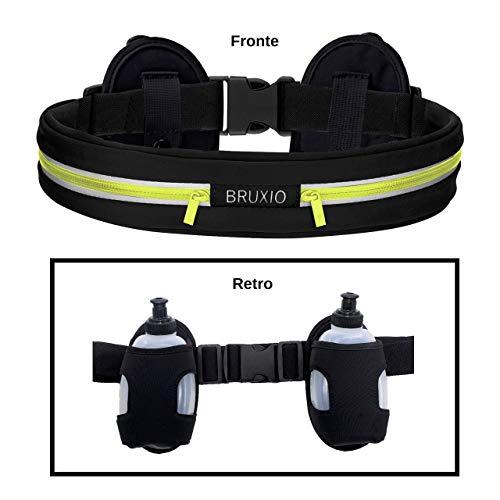 Cintura Running Bottiglia FitFeelsFun Hydration Belt Cintura Porta Borraccia Running con 3 borracce Cintura idratazione