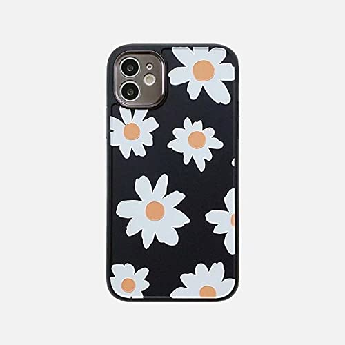 Funda para teléfono Love Heart Flower para iPhone XR XS 12 Mini 11 Pro MAX 7 8 Plus X SE 2020 Funda Trasera de Silicona con Marco galvanizado, M, para iPhone 7 u 8
