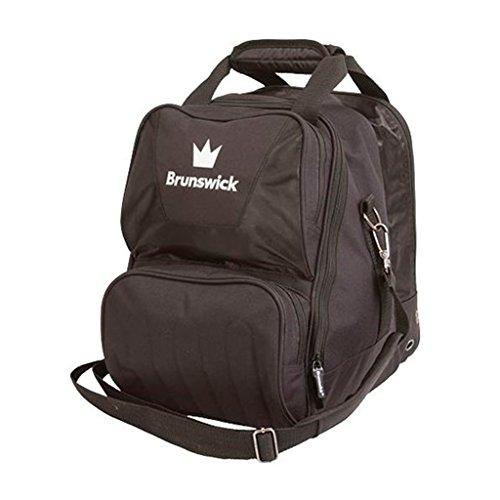 Brunswick Crown Single Tote Bowling Bag, Schwarz