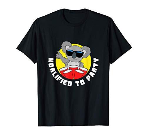 Funny Koalified To Party Gifts Koala Bear T-Shirt