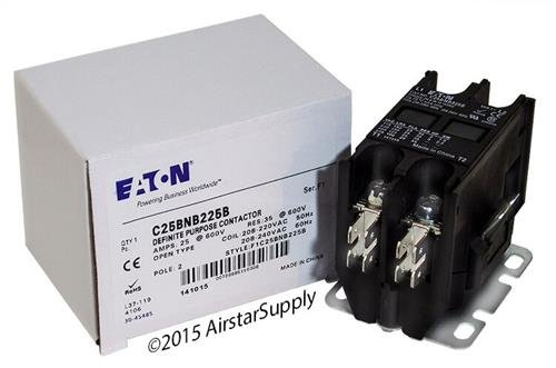 Siemens 45DG20AG - Replaced by Eaton/Cutler Hammer C25BNB225B Contactor, 2-Pole, 25 Amp, 240 VAC Coil Voltage