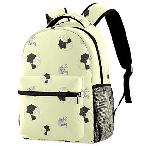 Baby Bear Snoring Backpack School Bag Bookbag Hiking Travel Rucksack