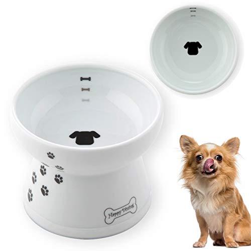 猫壱 脚付食器 犬柄・犬用 シリコン付き (フード)