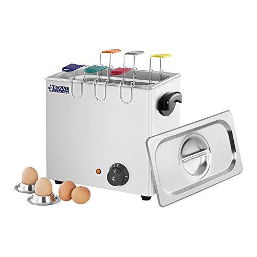 Royal Catering Eierkocher Küchengerät RCEB 6T (2600 W, für bis 6 Eier, Temperatur 30–110 °C, Edelstahl)