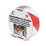 Cinta Reflectante - TARGET - Roja y Blanca 33 metros x 50 milímetros - Cinta Adhesiva - Advertencia - Señalización - Marcaje - Alta Visibilidad - Peligro - Seguridad - CRBR3350