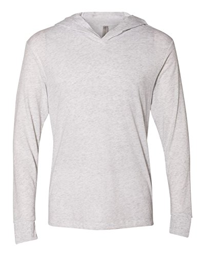 Yoga Clothing For You Mens Lightweight Long Sleeve Hoodie Tee Shirt, Large White