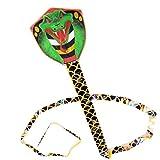 7m Snake Shape Kite Flying Single Line Kite Outdoor Funny Tear-Proof Nylon Cobra Flying Kites Sports Toys for Adults Children