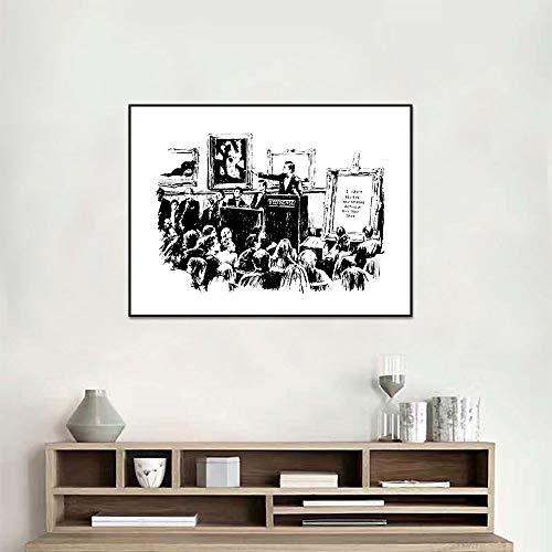 Graffiti Veilingen Lrony Posters En Prints Woonkamer Wanddecoratie Zwart-wit Canvas Schilderij B 40x50cm Geen lijst