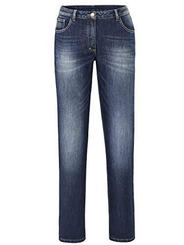 Angel of Style Damen Jeans Carla Dunkelblau 50 Baumwolle