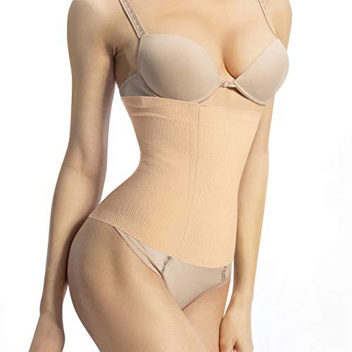 BRABIC Seamless Postpartum Belly Band Wrap Underwear, C-section Recovery Belt Binder Slimming Shapewear for Women (Beige, Medium)