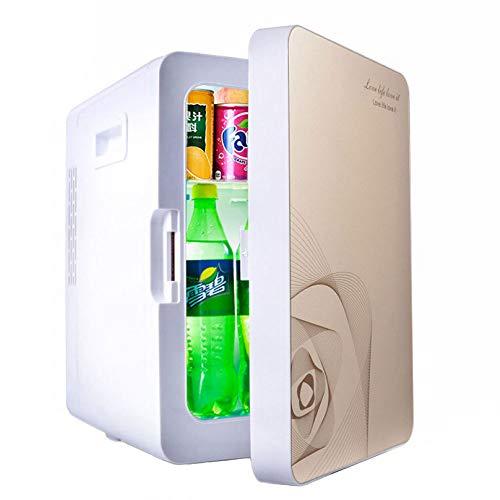 LLX Auto Kühlschrank 20L Low-Power-Studentenwohnheim Mini-Kühlschränke-System Kühlwagen Hause Dual-Use,Gold