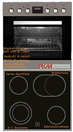 Einbauherd Set Backofen Ceran Kochfeld Einbau Herd Set Bräterzone Timer PKM