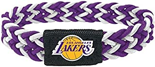 aminco NBA Los Angeles Lakers Dual Color Braided Elastic Bracelet