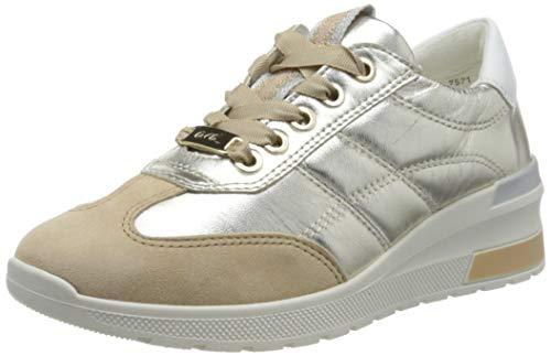 ARA Women's Sneaker, Camel, Weissgold, 6.5