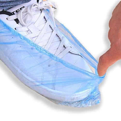Intermed Copriscarpe Monouso Colore Blu In CPE Confezione Da 100 Pz 50 Paia Impermeabili Usa e Getta, Uso in Casa, Ospedali, Piscine, Centri, Scuole
