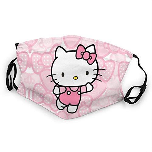 Hello Kitty Pink Mundschutz Anti-Staub Waschbar Wiederverwendbarer Mundschutz Modedesign für Kinder Jungen Mädchen Teenager
