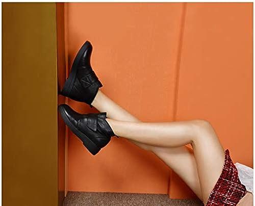 Cute girl Nouvelle Texture Hiver Tempérament Simple Confortable Tube Court Résistantes à l'usure des Bottes pour Femmes noir