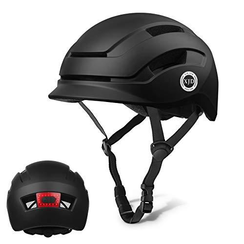 XJD Casco de Bicicleta para Adultos Protección de Bici Ciclismo USB Recargable...
