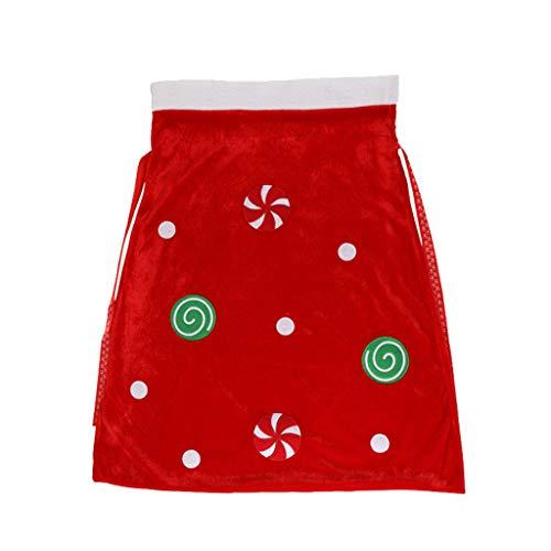 carol -1 Weihnachtssack Geschenktüten Weihnachten Weihnachtstüten übergroß Geschenktaschen Weihnachtsmann Schneemann Süßigkeiten Beutel Weihnachtsmannsack Rotes Nikolaussack Süßigkeitstasche