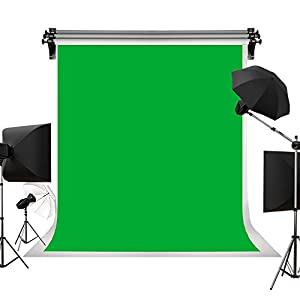 Kate 5ft(W)×7ft(H)/ 1.5m×2.2m Solid Green Backdrop Portrait Background for Photography Studio