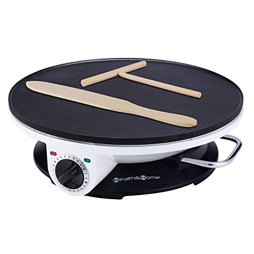 Health and Home Crepe Maker - 13 Inch Crepe Maker & Electric Griddle - Non-stick Non-stick Pancake Maker- Crepe Pan