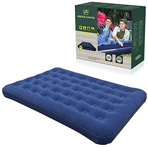 GREEN HAVEN Double Blow up Camping bed | Waterproof Double Airbed Inflatable Mattress | Premium Camping Blow Up Mattress Double | Quick Inflatable Camping Mattress | Double Air Beds for Adults & Kids