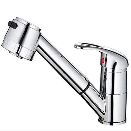 砂漠の小川 キッチン水栓 360度回転 シングルレバー 混合水栓 キッチン 洗面用 伸縮ノズル シャワーヘッド 水道 蛇口 取り付けホース リノベーション