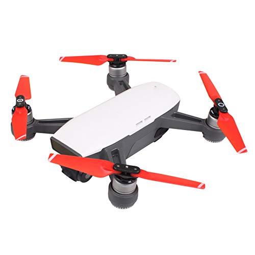 Darringls Hélice,2 Piezas Hélice Propulsor para dji Spark Drone de Repuesto y la Hoja Principal Hélices (Rojo)