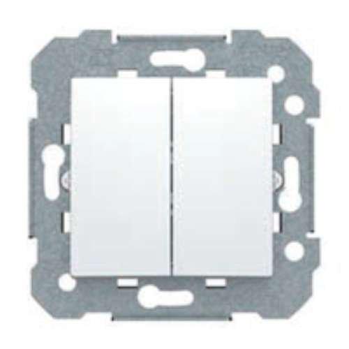 Bjc - 23509 interruptor doble viva blanco Ref. 6533010030