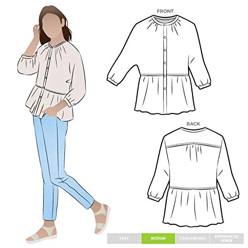 Style Arc Sewing Pattern - Blossom Woven Top (Sizes 18-30) - Click for Other Sizes Available